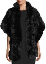 Kelli Kouri Rex Rose Fur & Chiffon Stole