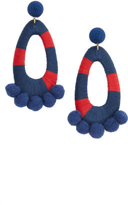 Vineyard Vines Wrapped Pom Pom Earrings