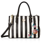 Betsey Johnson Women's Triple Compartment Satchel Handbag