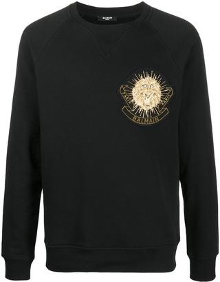 Balmain Embellished Badge Sweatshirt