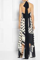 Donna Karan Printed silk halterneck gown