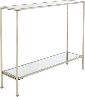 OKA Rivulet Console Table, Small - Antique Silver