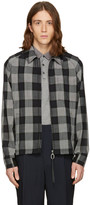 Lanvin Black Wool Check Jacket