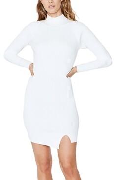 Bardot Ribbed-Knit Sweater Dress
