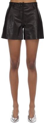 Maryam Nassir Zadeh High Waist Leather Shorts