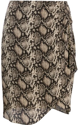 Nili Lotan Snakeskin-Print Mini Skirt