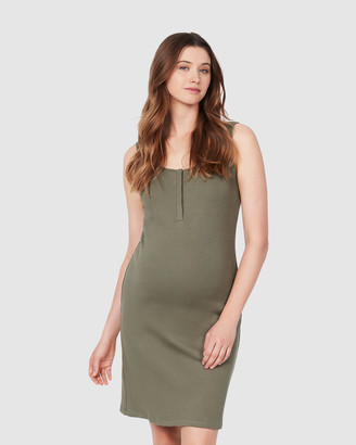 Soon Women's Green Midi Dresses - Essential Feeding Tank Dress - Size One Size, M at The Iconic