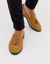 House Of Hounds House of Hounds pointer loafers in tan embossed suede