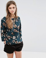 Oeuvre Oeurve Off Shoulder Floral Top