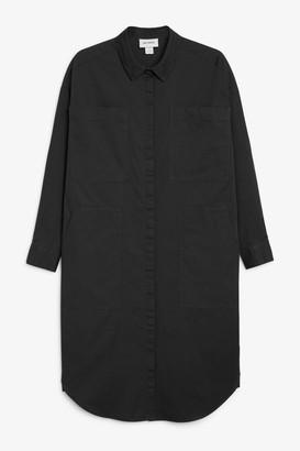 Monki Utility shirt dress