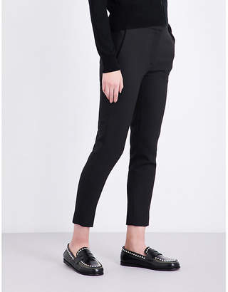 Sandro Andy regular-fit tapered stretch-woven trousers