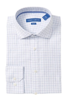 Vince Camuto Windowpane Slim Fit Dress Shirt