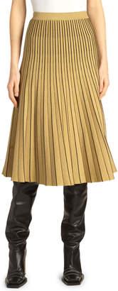 Proenza Schouler Piped Pleated Metallic Midi Skirt