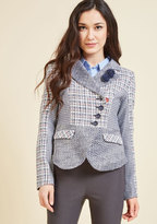 ModCloth Eclectic Academic Blazer in 12 (UK)
