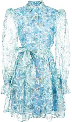 Olivia Rubin Floral Sheer Dress