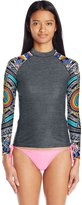 Rip Curl Women's Wetty Uv Rashguard with Printed Raglan Long Sleeves