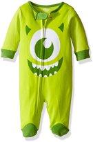 """Disney Monsters, Inc. Baby Boys' """"Big Smile"""" 1-Piece Footed Pajamas"""