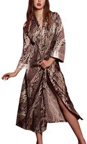 Dolamen Women's Dressing Gown Kimono Satin Bathrobe Nightwear Sleepwear