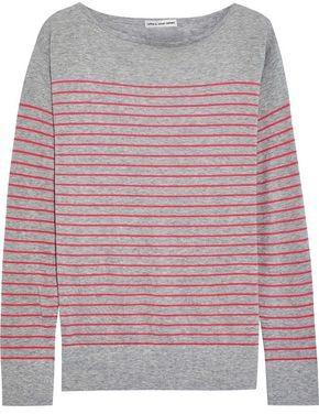 Autumn Cashmere Striped Melange Cotton Top