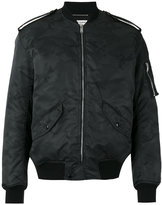 Saint Laurent military bomber jacket - men - Cotton/Nylon/Polyamide/Wool - 48