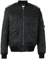 Saint Laurent military bomber jacket - men - Nylon/Wool/Polyester/Cotton - 48