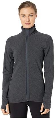 Icebreaker Descender Long Sleeve Zip (Jet Heather) Women's Clothing