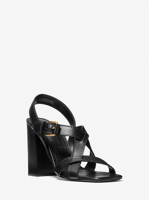 Michael Kors Collection Gladys Leather Sandal