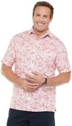 Croft & Barrow Big & Tall Crosshatch Woven Button-Down Shirt