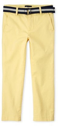 The Children's Place Boys Belted Stretch Chino Pants, Sizes 4-16, Slim & Husky