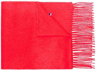 Gucci red sequin Guccy cashmere silk-blend scarf