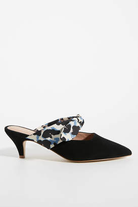 Anthropologie Paloma Bow Kitten-Heeled Mules