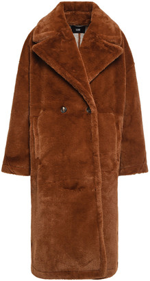 Line Oversized Faux Fur Coat