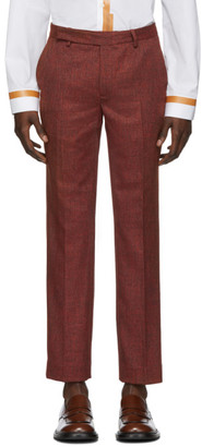Eckhaus Latta Red Narrow Trousers