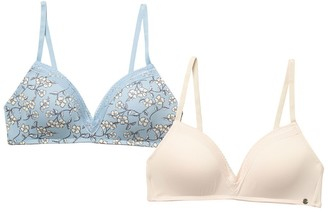 Lucky Brand Flowey Floral Wirefree Bra - Pack of 2