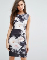 Lipsy Floral Pencil Dress In Allover Floral
