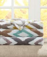 Madison Park Madison Park Oversized Plush Ikat Diamond Throw