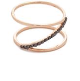 Kismet by Milka 14k Rose Gold Spectrum Ring