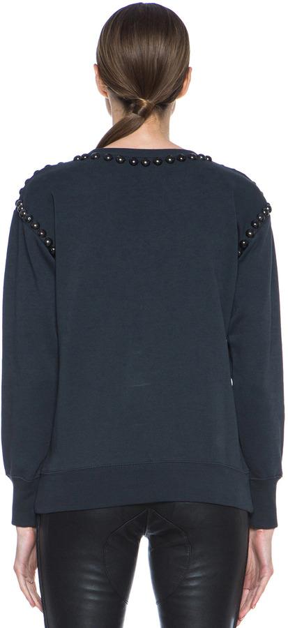 Isabel Marant Shiloh Cotton Sweatshirt in Faded Black
