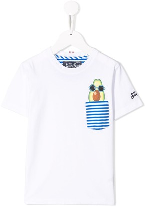 MC2 Saint Barth Kids avocado print T-shirt
