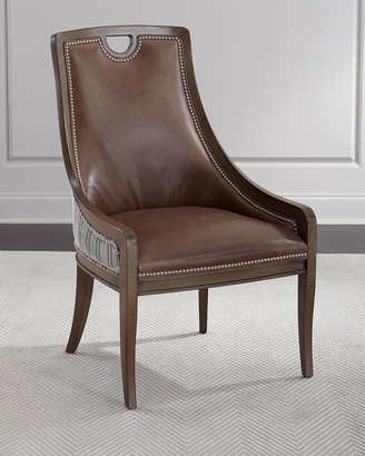 Massoud Marcotte Leather Dining Chair