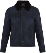 Prada Contrast-collar shearling jacket