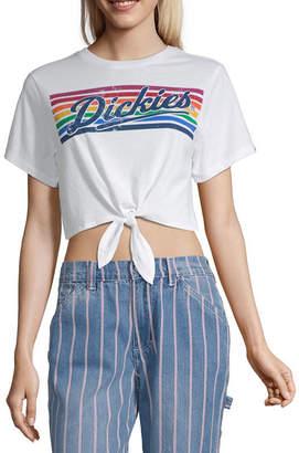 Dickies Juniors Womens Crew Neck Short Sleeve Graphic T-Shirt