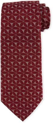 Emporio Armani 3D Floral Silk Tie