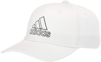 adidas Producer Stretch Fit Structured Cap (Black/White) Baseball Caps