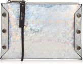 Jimmy Choo LINDY Silver Mix Holographic Coated Fabric Pouch