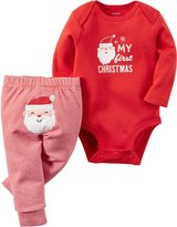 "Carter's Baby 2-Piece Bodysuit and Pant Set, ""My First Christmas"" , NB"