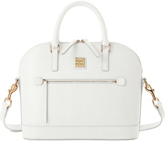 Dooney & Bourke Saffiano Domed Zip Satchel