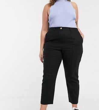 Asos DESIGN Curve ultimate linen cigarette pants