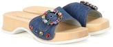 Marc Jacobs Anita Crystal-embellished Denim Sandals