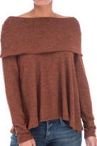 Bobeau Cozy Off Shoulder Top